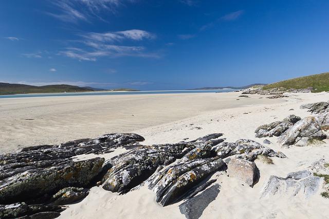 Luskentyre Beach, Hebrides Lewis Island Scotland
